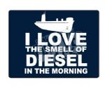 Smell the diesel Mouse mat